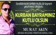 Murat Akın,Bayram Mesajı yayınladı Haberi