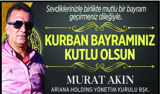 Murat Akın,Bayram Mesajı yayınladı