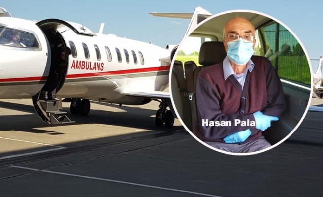 Kelkitli Hasan Pala, Ambulans Uçakla Türkiye'de